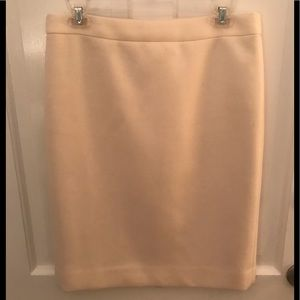 Cream/ivory wool Jcrew pencil skirt EUC 8